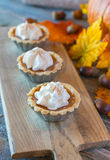 Miniature pumpkin pies Stock Photography