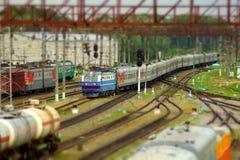 Miniature railroad stock photo