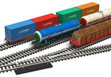 Miniature railroad models Stock Photos