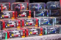 Miniature rally cars Stock Photos