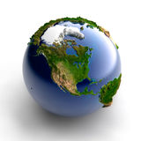 Miniature real Earth. A miniature model of the Earth with an exaggerated natural topography vector illustration