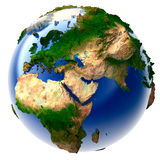 Miniature real Earth Royalty Free Stock Image