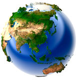 Miniature real Earth Stock Photo