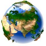 Miniature real Earth vector illustration