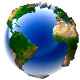 Miniature real Earth Royalty Free Stock Images