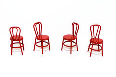 Miniature Red Chairs Stock Photo