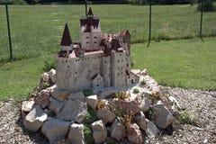 Miniature replica of Bran Castle, Szarvas, Hungary Royalty Free Stock Photo