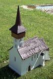 Miniature replica of the church in Csaroda, Szarvas, Hungary Royalty Free Stock Photo