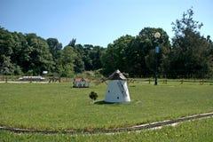 Miniature replica of Dorozsma windmill, Szarvas, Hungary Stock Images