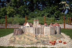 Miniature replica of Eger Fort, Szarvas, Hungary Royalty Free Stock Images