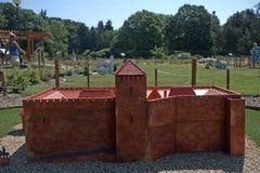 Miniature replica of Gyula Fort, Szarvas, Hungary Royalty Free Stock Photos