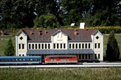 Miniature replica of Mezotur Railway Station, Szarvas, Hungary Royalty Free Stock Photography