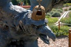 Miniature replica of Tatabanya Turul Bird statue, Szarvas, Hunga. Ry Stock Photo