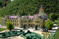Miniature replica of Wenckheim Castle, Szarvas, Hungary Royalty Free Stock Photos