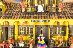 Miniature reproduction of a typical Colombian house. Medellin stock photo