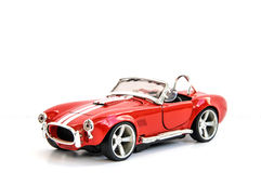 Miniature of retro red car (die cast) Royalty Free Stock Photography