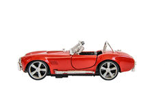 Miniature of retro red car (die cast) Royalty Free Stock Photos