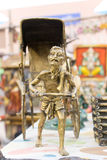 Miniature rickshaw puller, Indian handicrafts fair Stock Photos