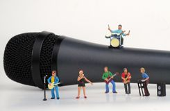 Miniature of a rock band Royalty Free Stock Images