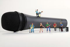 Miniature of a rock band Stock Photo