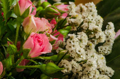 Miniature roses in bouquet Stock Images