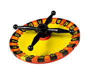 Miniature Roulette Table. Isolated on white background Stock Photos