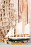 Miniature sailboat Stock Photography