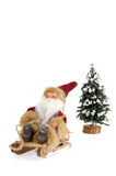 Miniature of Santa Claus on sleigh Royalty Free Stock Images