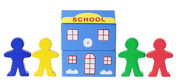 Miniature School and Figurines Royalty Free Stock Photos
