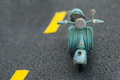Miniature scooter motorcycle Royalty Free Stock Images