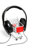 Miniature shopping trolley Royalty Free Stock Photo