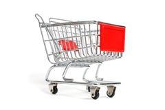 Miniature shopping trolley Stock Photos
