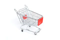 Miniature shopping trolley Stock Photos