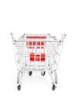 Miniature shopping trolley Stock Image