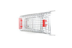 Miniature shopping trolley Royalty Free Stock Photos