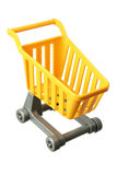 Miniature Shopping Trolley. On White Background Stock Photo