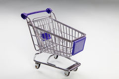 Miniature shopping trolley Stock Images