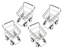 Miniature Shopping Trolleys Stock Photography