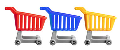 Miniature Shopping Trolleys Royalty Free Stock Image