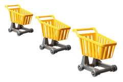 Miniature Shopping Trolleys Royalty Free Stock Images