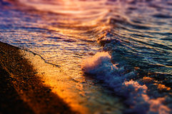 Miniature Shoreline And Ocean Waves Royalty Free Stock Photography