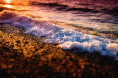 Miniature Shoreline And Ocean Waves Stock Image