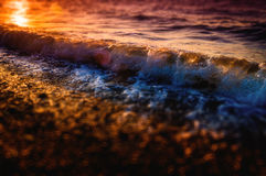 Miniature Shoreline And Ocean Waves Stock Photo