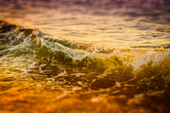 Miniature Shoreline And Ocean Waves Royalty Free Stock Photo
