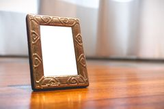 Miniature Silver Photo Frame Mock up royalty free stock image