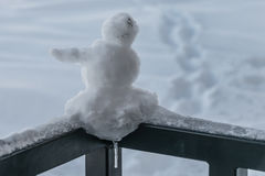 Miniature snowman Royalty Free Stock Images