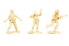 Miniature  soldiers toy  on  background Royalty Free Stock Images