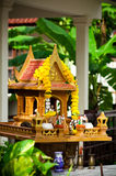 A miniature spirit house Stock Photo