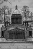 Miniature St. Isaac`s Cathedral in Saint-Petersburg, Russia Stock Photography
