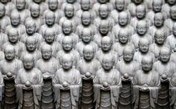 Miniature statues. In Kamakura, Japan Royalty Free Stock Image
